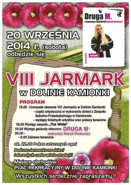 W sobotę we wsi Kamionna koło Międzychodu odbędzie się VII Jarmark w Dolinie Kamionki.