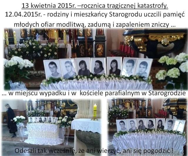 Tak wspominano zmarłych nastolatków w Starogrodzie