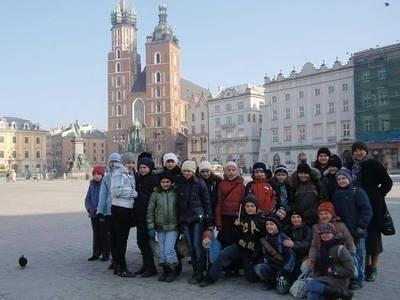 Na wycieczce w Krakowie Fot. archiwum szkoły