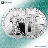 """Nowa moneta NBP upamiętniająca rocznicę pacyfikacji kopalni """"Wujek"""" [zdjęcia]"""