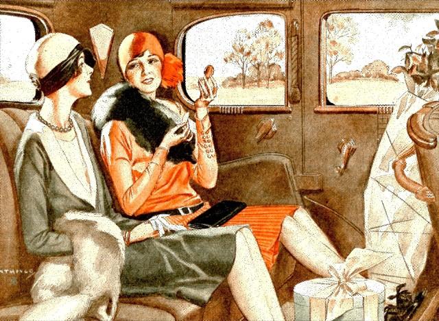 Moda lat 20. przyniosła przede wszystkim skrócenie długości sukienek i spódnic, a także - możliwość noszenia spodni przez kobiety.