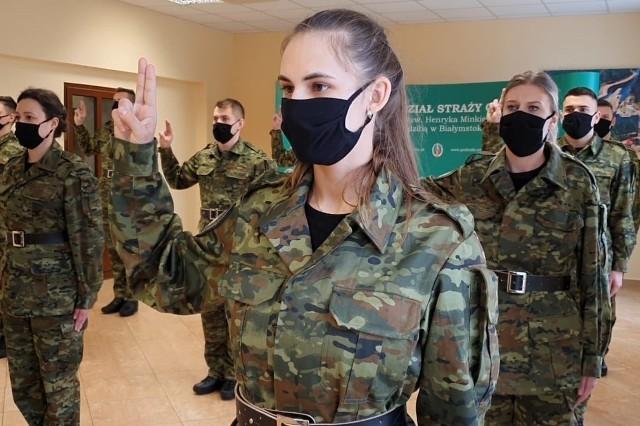 Ślubowanie nowych funkcjonariuszy Podlaskiego Oddziału Straży Granicznej