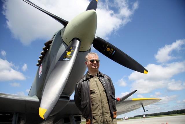 Spitfire wylądował na lubelskim lotnisku