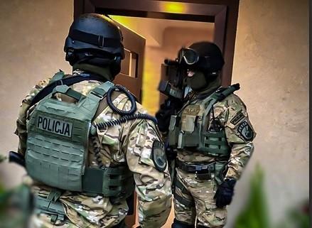 W akcji uczestniczyli m. in. policjanci z Wrocławia
