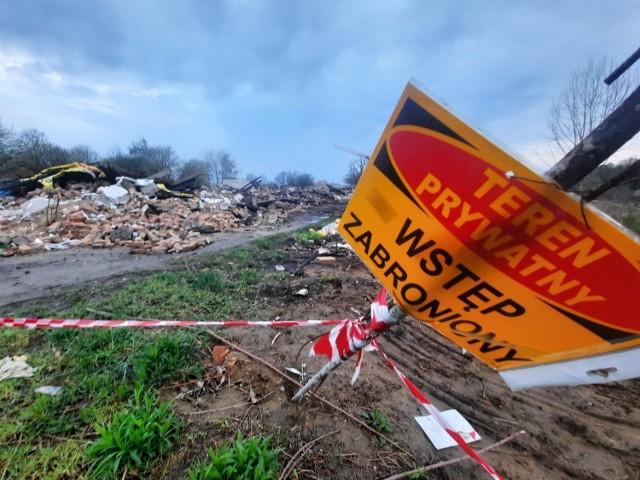 Zburzone budynki tworzyły kiedyś gospodarstwo szpitalne.