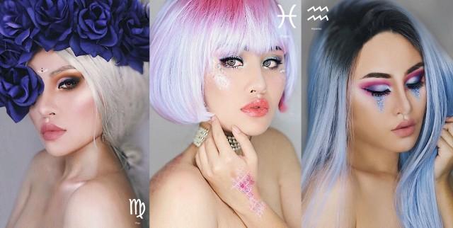 """""""Jeżeli lubisz astrologię – będziesz zachwycona!"""" - mówi autorka projektu Kimberly Money. 19-letnia fotografka z Los Angeles postanowiła stworzyć wyjątkowe makijaże oparte na znakach zodiaku. Sama wykonała zarówno make-up, jak i zdjęcia, do których pozowała. Czy rozpoznacie swój znak zodiaku?"""