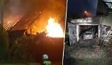 Nocny pożar domu w Witoldowie pod Koronowem. Ludzie stracili dach nad głową [zdjęcia]