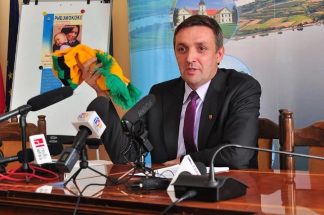 Będą nowe władze Spólki Akcyjnej SiarkaGrzegorz Kiełb prezydent Tarnobrzega podczas wtorkowej konferencji prasowej
