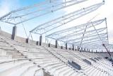 Budowa stadionu ŁKS. Postęp prac piękny... ale co się dzieje z murawą? Wygląda tragicznie. Zdjęcia 1.02.2021