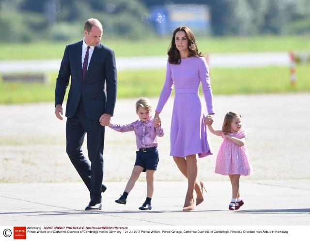 Para książęca ze swoimi dziećmi - Georgem i Charlotte