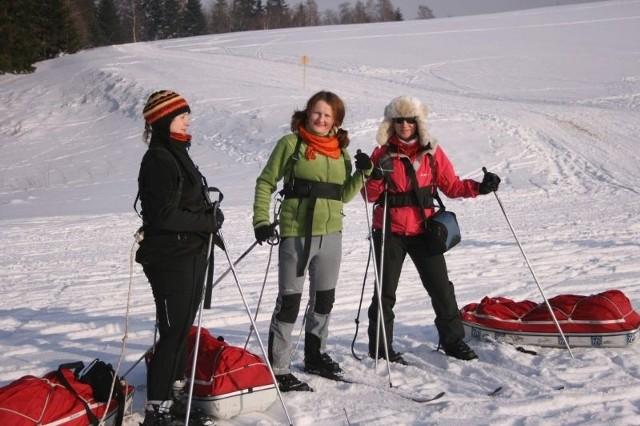 Polskie polarniczki podczas zimowego obozu poprzedzającego wyprawę