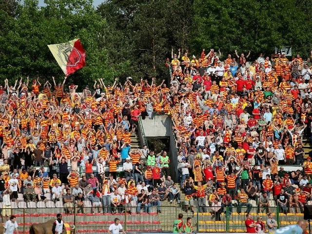 na meczu Jagiellonia - Korona Kielce