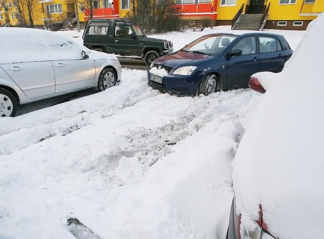 Tak jeszcze wczoraj wyglądał parking przy ul. Gałczyńskiego