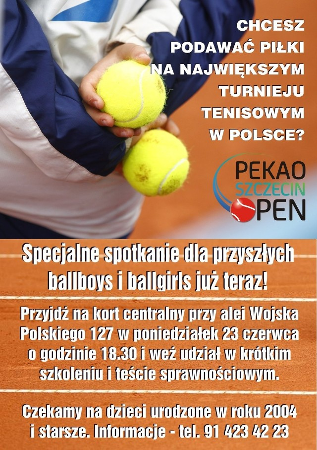 Turniej ATP Pekao Szczecin Open 2014 odbędzie się 8-14 września.
