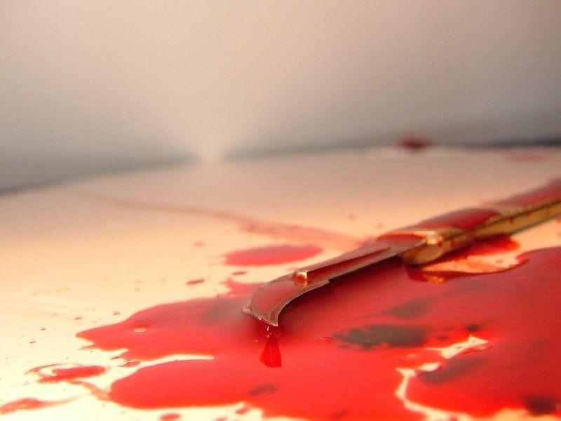 14-latka rzuciła sie na dziadka z nożem