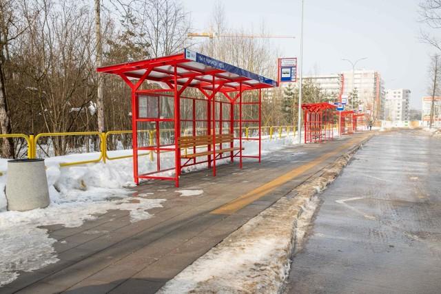 Tak prezentowała się pętla przy ul. Filipowicza 23 lutego 2021 roku
