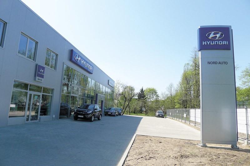 Rośnie konkurencja na białostockim rynku motoryzacyjnym. Punkt dealerski Hyundaia, prowadzony przez spółkę Nord Auto (na zdjęciu), znajduje się naprzeciwko innego salonu i serwisu tej marki, czyli firmy Spectrum.