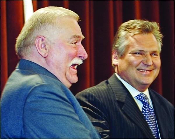 Byli prezydenci Lech Wałęsa i Aleksander Kwaśniewski