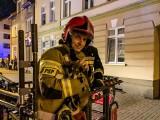 Ełk. Strażacy uratowali szczeniaka, który chodził po parapecie na drugim piętrze (zdjęcia)