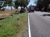 Wypadek w Pawłowie koło Brzegu. Dwie osoby ranne