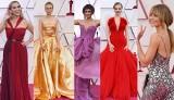 Oscary 2021 bez maseczek [ZDJĘCIA] Najlepsze kreacje na ubogim w gwiazdy czerwonym dywanie