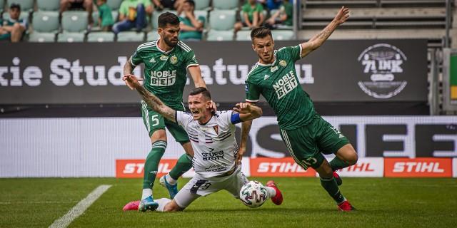 Adam Frączczak podczas meczu ze Śląskiem Wrocław.