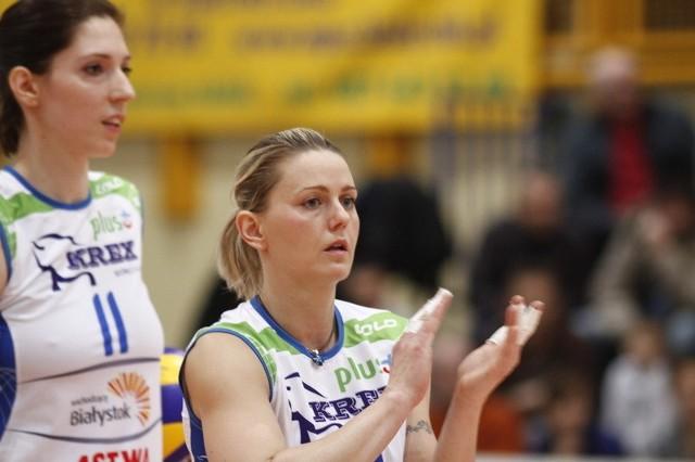 Dominika Kuczyńska (z lewej) w Radomiu została wybrana najlepszą siatkarką AZS-u. Rozgrywała Ewa Cabajewska (z prawej).