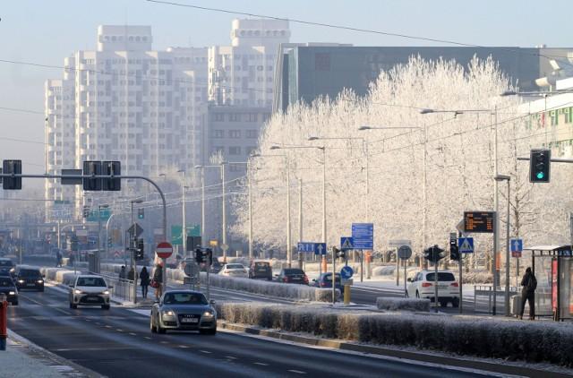 Piękny i mroźny poranek we Wrocławiu