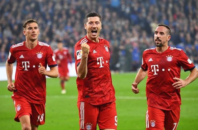 Robert Lewandowski zdobył bramkę z Schalke