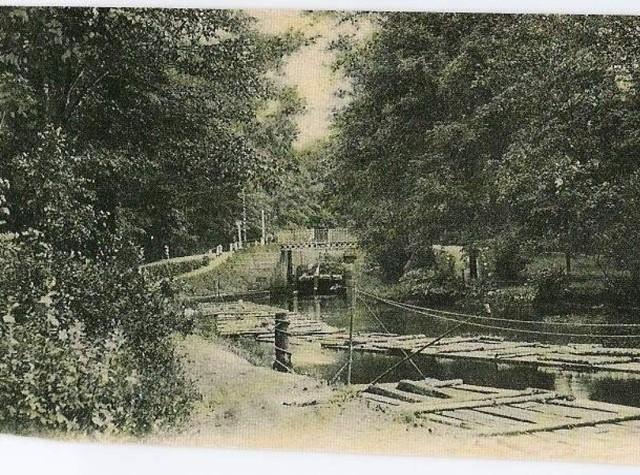 Bydgoszcz - piąta śluza na Strym Kanale ok. 1889r.