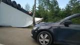 Krukowszczyzna. Wypadek tira zablokował DK8 (zdjęcia)