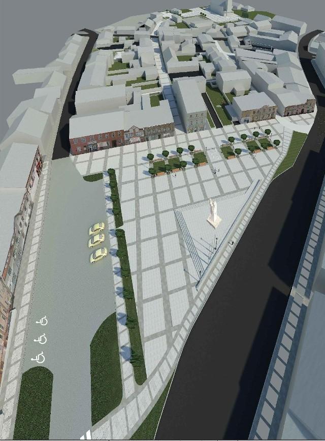 Naszym Czytelnikom w proponowanej koncepcji rewitalizacji Placu Wolności brakuje więcej zieleni
