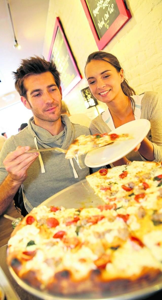 Jeśli już jemy coś na mieście, to przeważnie zamawiamy pizzę