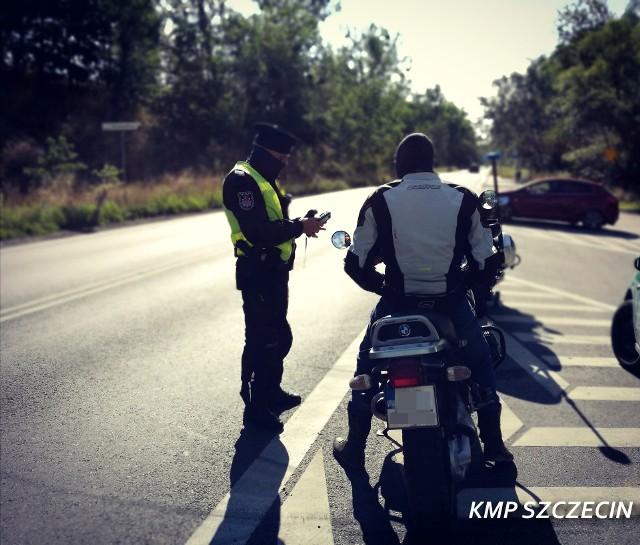"""Policyjna akcja """"Motocykl""""."""