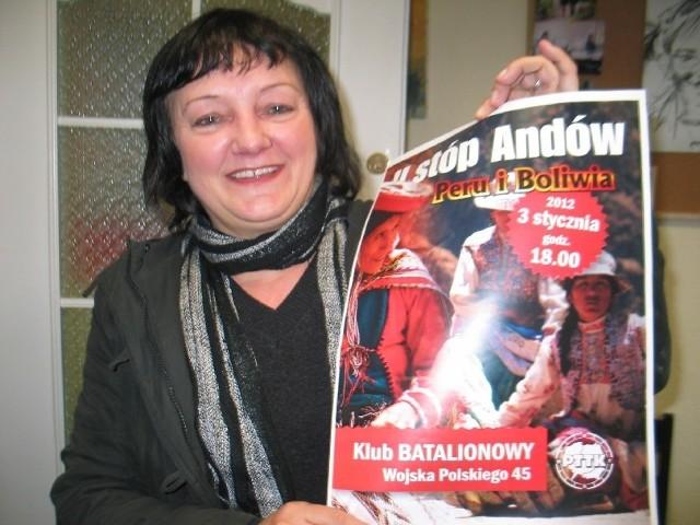 Na pierwszym spotkaniu po latach Grażyna Sroczyńska opowie o swojej wyprawie do Peru i Boliwii.
