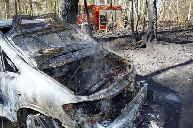 Dzisiaj (12 kwietnia) w godzinach popołudniowych, pomiędzy miejscowościami Skarszów Górny i Skarszów Dolny doszło do pożaru samochodu osobowego. Dwa zastępy wozów strażackich ze Słupska i z Dębnicy Kaszubskiej ugasiło na czas palący się pojazd i fragment lasu.Zobacz także: Pożar samochodu na ul. Polnej w Słupsku.