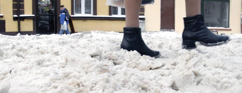 Wczorajsze śnieżne piekło na słupskim Piekiełku.