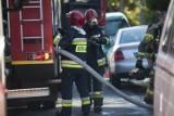 Pożar w firmie Secespol w Nowym Dworze Gdańskim. Płonął budynek przeznaczony do rozbiórki