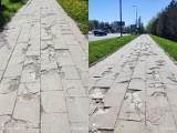 Czytelnik: Trudno to nazwać chodnikiem. Dziury przy ul. Sikorskiego w Lublinie