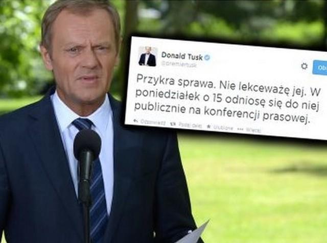 Komentarz premiera Tuska na Twitterze w sprawie afery taśmowej