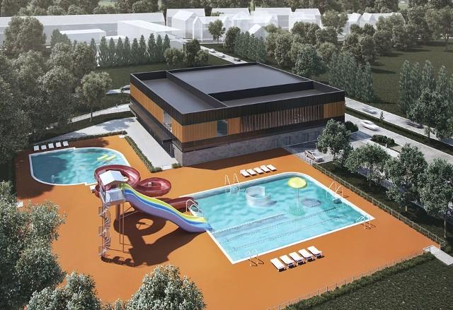 Na zdjęciach obecny stan kąpieliska i wizualizacje nowego obiektu