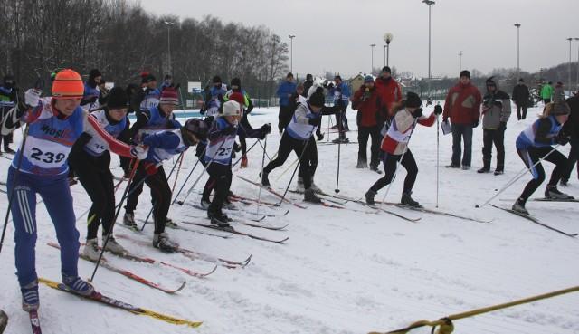 Księżogórskie zawody narciarskie.
