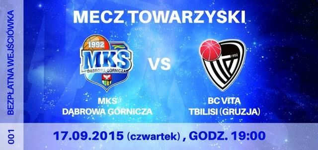 Dzisiaj o godz. 19 odbędzie się oficjalna prezentacja drużyny MKS Dąbrowa Górnicza. Niestety nie dojdzie do skutku mecz MKS z BC VITA Tbilisi.