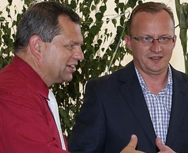 Waldemar Czaja (z lewej) i Edmund Langosz. Wtedy jeszcze w dobrej komitywie, teraz ich drogi polityczne się rozeszły.