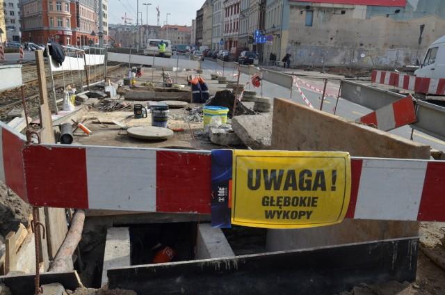 Prace remontowe na ul. Kazimierza Wielkiego