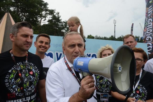 Grzegorz Schetyna i Borys Budka na Przystanku Woodstock