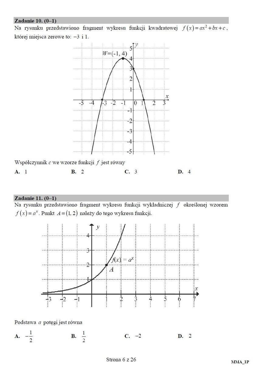 Matematyka podstawowa - matura za nami. Zobacz zadania i odpowiedzi