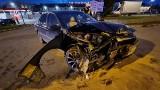 Wypadek w Kielcach. Za kierownicą nastolatek bez prawa jazdy [ZDJĘCIA]
