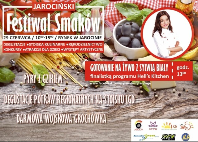Jarocin: Rozpoczyna się I Festiwal Smaków - gościem Sylwia Biały