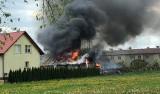 Pożar w Sandomierzu. Strażacy i policjanci w akcji (ZDJĘCIA CZYTELNICZKI)